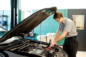 Automotive Technician Performing Service